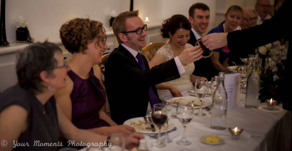 Magician Ian Kendall entertaining at a wedding